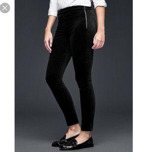 Gap velvet skinny side zip pants NWT